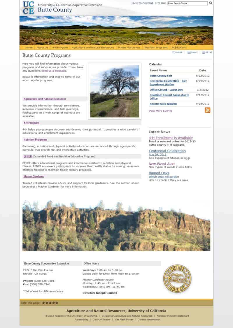 Butte County Cooperative Extension Site