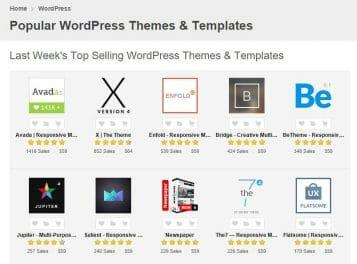 Optimized WordPress themes